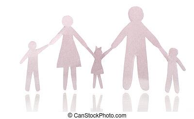 papel, corte, familia