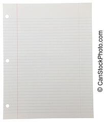 papel cuaderno, blanco