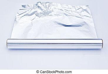 papel de aluminio, rollo