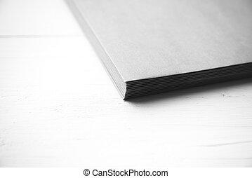 papel del color, negro, pequeño, blanco, pila