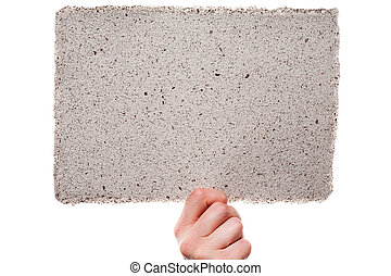 papel del handmade, en, mujer, mano