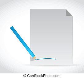 papel, desenho, ilustração, assinatura