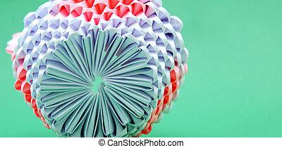 papel, detalles, origami, hechaa mano