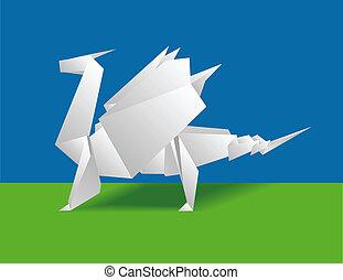 papel, dragão chinês