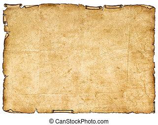 papel, edges., antiga, áspero, pedaço