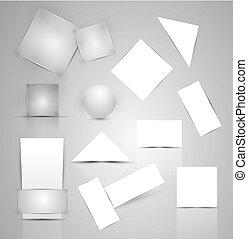 papel, empresa / negocio, promocional, elementos