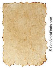 papel, envelhecido