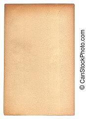 papel, envelhecido, textura