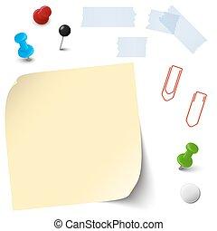 papel, escritório vazio, acessórios