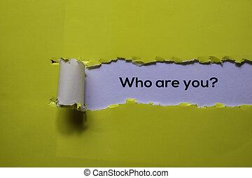 papel, escrito, amarillo, arriba, rasgado, you?, cierre
