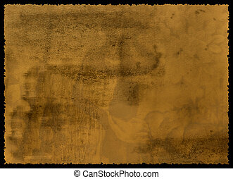 papel, esfarrapado, borda, antigas, textured