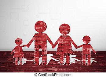 papel, família