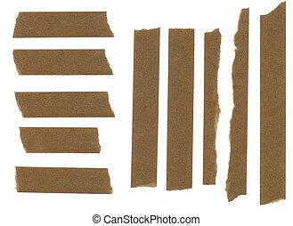 papel, fita, mascarar, faixa