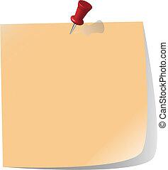 papel, fixado, nota