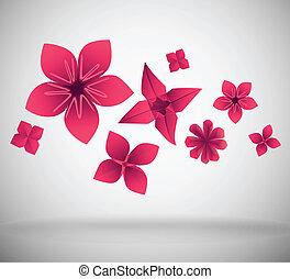 papel, flores
