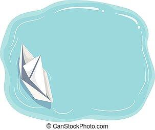 papel, flotador, tabla, barco