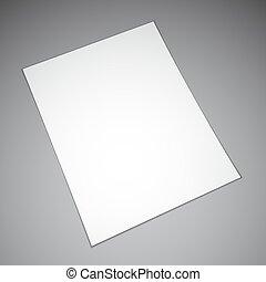 papel, folha, vazio