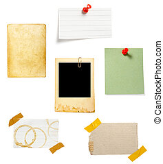 papel, fondo marrón, viejo, nota