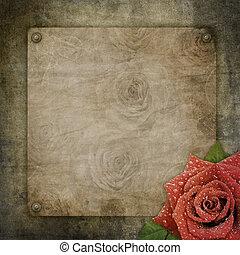papel, fundo, antigas, textured, vindima