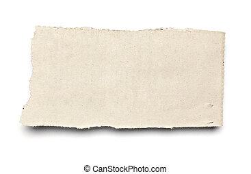 papel, fundo, notícia, branca, rasgado, mensagem