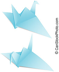 papel, grúa, origami