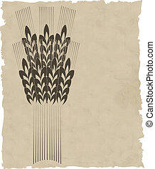 papel, grinalda, antigas, vetorial