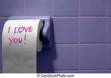papel higiénico, amor