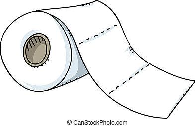 papel higiénico, rolo