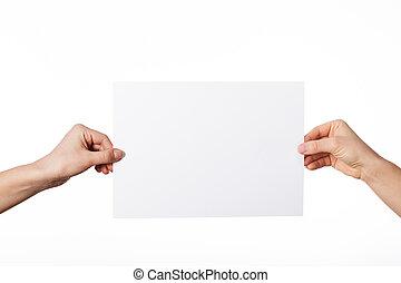 papel, hoja, blanco