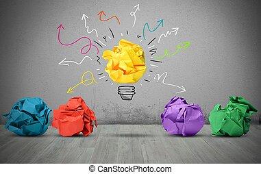 papel, idéia