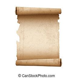 papel, ilustração, scroll, antiga, vetorial