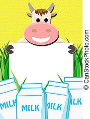 papel, leche, cow's