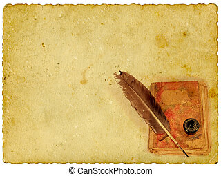 papel, livro, antigas, vindima