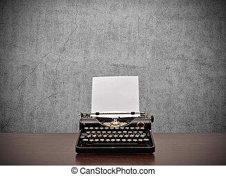 papel, Máquina escrever, em branco