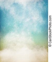 papel, macio, nevoeiro, colorido