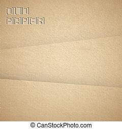 papel, marrom, vetorial, antigas, fundo