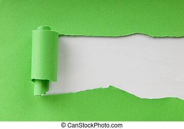 papel, mensagem, pedaços, seu, espaço