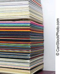 papel, muestras, para, tarjetas comerciales