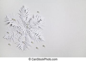 papel, multa, copo de nieve