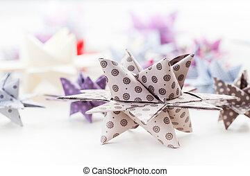 papel, Natal, estrelas