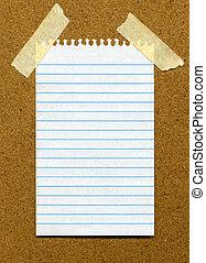 papel, noticeboard.