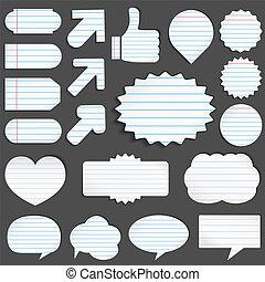 papel, objetos