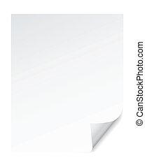 papel, página, esquina, rizo, efectos, vector