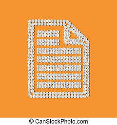 papel, píldoras, concept:, a4