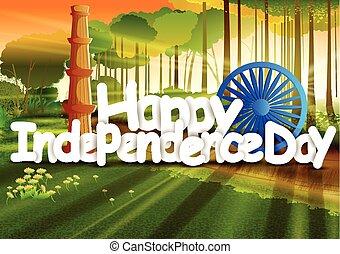 papel parede, índia, fundo, dia, independência, feliz