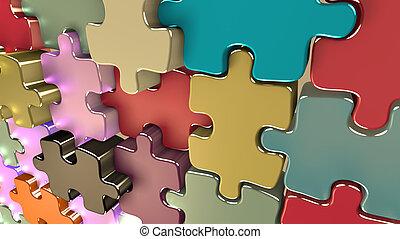 papel parede, com, diferente, pedaços, achando, um, harmony.