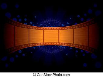 papel parede, com, ouro, película