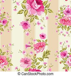 papel parede, floral, rosas