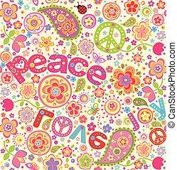 papel parede, hippie