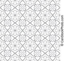 papel parede, padrão, seamless, floral